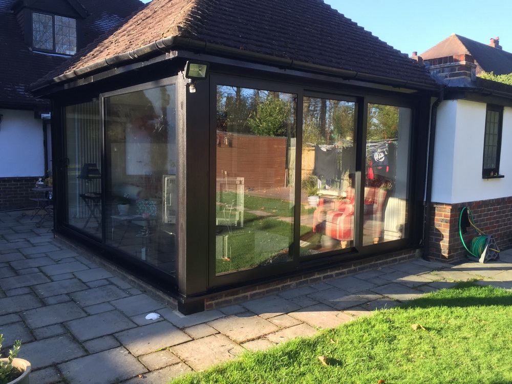 aluminium sliding doors outside view